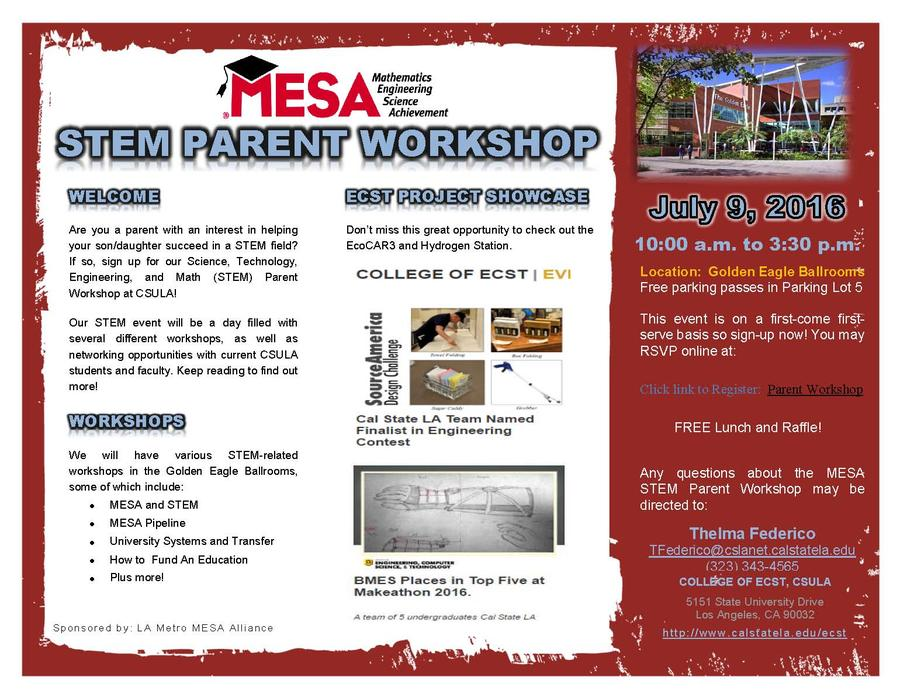 MESA Parent Workshop